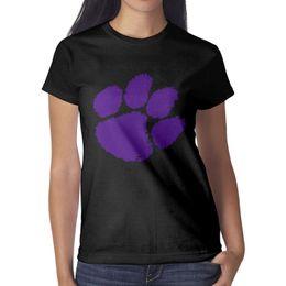 Tigers T Shirts Australia - Clemson Tigers Logo Woman T-shirt Retro Workout Bulk T Shirt Printing O Neck Shirts Ladies Wonder Woman T Shirt