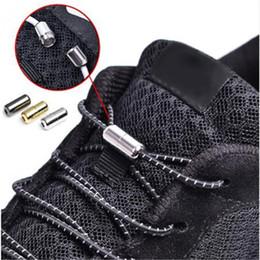Shoe Laces Tie Australia - 1Pair Elastic Locking Shoelaces Round No Tie Shoe Laces Kids Adult Sneakers Shoelaces Quick Lazy Shoe Lace Shoestrings