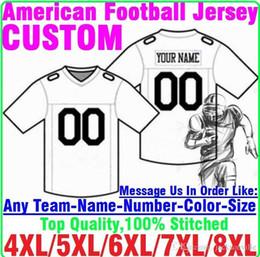 Персонализированные американский футбол трикотажные изделия пользовательские Теннесси Денвер колледж подлинный дешевый бейсбол баскетбол хоккей Джерси 4xl 5xl 8XL легенда на Распродаже