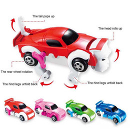 Wholesale 6 cores 12 CM garoto brinquedos legal Transformar Automaticamente Clockwork Carro Do Veículo Do Carro Relógio Wind up brinquedo para crianças crianças brinquedos Brinquedo Do Carro presente