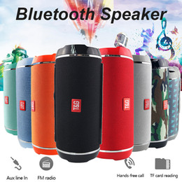 phones net Australia - Hot TG116 Double Horn Cloth Net Bluetooth Wireless Speaker Mini Portable Speaker Support TF Card Hand-free Mic Stereo For Mobile Phone 2019