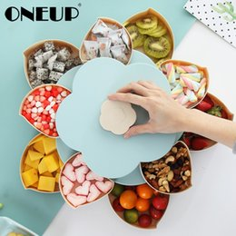 storage dry box Australia - Oneup Double-deck Rotary Storage Box Flower Design Wedding Snack Candy Box Jewelry Organizer Cosmetic Dry Fruit Storage Bin J190718
