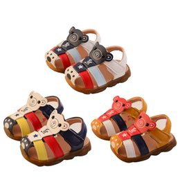 baby cow cartoon 2019 - 2019 New Toddler Kids Baby Girls Boys Summer Cartoon Closed Toe Beach Shoes Sandals Sneakers discount baby cow cartoon