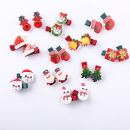 Acrylic Baby Hair Clip Australia - New Christmas Headdress Barrettes Children's Acrylic Hair Clips Baby Festival Hair Accessories Wholesale