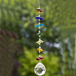 Wholesale 8PCS 20mm Crystal Suncatcher Hanging Ball Pendant Handmade Ornament Wedding Decor Car Hanging Decor Ornament WQM173