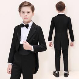 Handsome Kids Suits Australia - Handsome Double-Breasted Peak Lapel Kid Complete Designer Handsome Boy Wedding Suit Boys Attire Custom-made (Jacket+Pants+Tie) A54