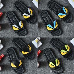 $enCountryForm.capitalKeyWord Australia - Luxury Designer slipper Summer Eye Monster men's shoes flip flops for loose-fitting men beach slippers rubber flip-flops EUR 40-45 top