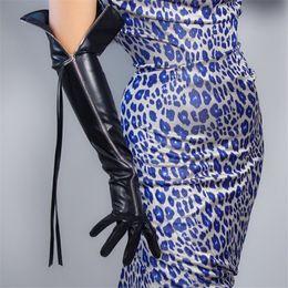 Arm tAssels online shopping - TECH LONG GLOVES Faux Leather PU quot cm Black Extra Long Zipper Tassel Arms Women s Leather Gloves Touchscreen WPU170