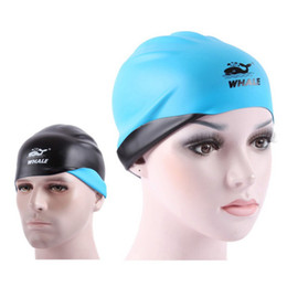 Men Hairs Australia - Double-sided Waterproof Professional Women&Men Flexible Silica Gel Ear Long Hair Protection Swim Pool Swimming Cap Hat Cover W1