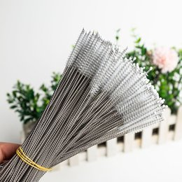 Stainless Steel Straw Brush Bottle Cleaners Cleaning Brush Milk Bottle Brushes Drinking Pipe Tube Reusable Cleaning Tools 17cm DHL FREEE3404 on Sale