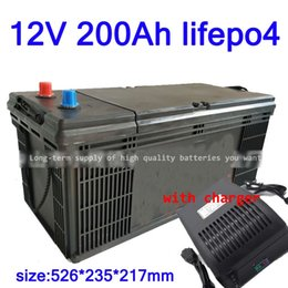 $enCountryForm.capitalKeyWord NZ - GTK Lifepo4 12V 200AH lithium battery BMS 4S 12.8V 200Ah deep cycle for 1800W inverter EV RV Solar energy storage +20A Charger