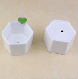 $enCountryForm.capitalKeyWord Australia - 100pcs ceramic bonsai pots wholesale mini white porcelain flowerpots suppliers for seeding succulent indoor home Nursery planters