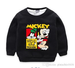 baby clothes factories UK - DD2018 new cartoon design children's winter wear plus velvet sweater baby boy's warm clothes factory price direct selling