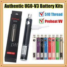 $enCountryForm.capitalKeyWord Australia - 5PCS Authentic UGO V3 Preheat Variable Voltage 510 Thread Vape Battery Kits 650 900mAh EVOD eGo Micro USB Batteries For Thick Oil Cartridges