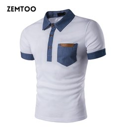 $enCountryForm.capitalKeyWord Australia - Brand Clothing Summer Men 'S Polo Shirt Fashion Cowboy Stitching Short Sleeve Polo Shirt Slim Fit Casual Camisa Polo Homme Ze0251