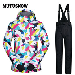 $enCountryForm.capitalKeyWord NZ - MUTUSNOW Winter Ski Suit Women 2019 New High Quality Windproof Waterproof Warmth Snow Sets Jackets And Pants Skiing And Snowboarding Suits