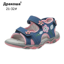 $enCountryForm.capitalKeyWord Australia - Apakowa Summer Children Shoes Girls Sport Beach Sandals With Arch Support Kids Hook-and-loop Sandals For Girls Eu Size 21-32 Y19051403