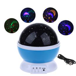 Lightme LED Rotating Star Light 3 Modos Lâmpada Do Projetor Romântico Estrelado Céu Lua Rotação Nightlight Crianças Sleeping USB Lâmpadas de Projeção em Promoção