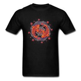 $enCountryForm.capitalKeyWord Australia - Koi Mandala T Shirt Men High Quality Natural Cotton Graphic Tee Shirts Custom Mandala Buddha Tshirt Best Gift Tees