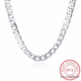 fine chains wholesale Australia - 10MM 20inch men's jewelry silver fine jewelry Authentic 925 Sterling silver men necklace Link Chains necklace men Russian