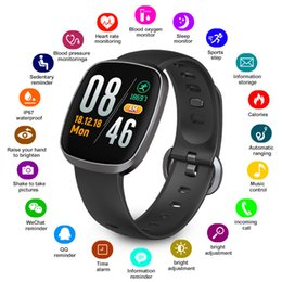 Italian Smart Watch NZ - Goophone Android Smart Watch Waterproof Blood Pressure smart band Fitness Tracker Sleep Monitor smartwatch Music Control Full Screen Touch