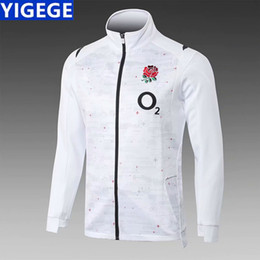 Wholesale 2018 England Jacket JERSEY ALL BLACKS Ireland IRFU Rugby Jerseys shirt Irish Jacket Ireland green sport jacket size S XL