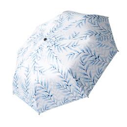 $enCountryForm.capitalKeyWord UK - Three-Folding Umbrella For Woman Sun Protection Umbrella Sunshade Female Sunny Rainy Umbrellas Anti UV Literary Beach Parasol