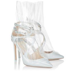 $enCountryForm.capitalKeyWord UK - Carole Levy 2019 Spring New Design Woman Sandals Single Shoes White Pink Flower Color PVC Clear Stilettos Party Wedding Shoes