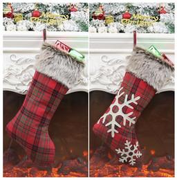 Discount christmas ornament - Christmas Stockings Decor Christmas Trees Ornament Party Decorations Santa Christmas Stocking Candy Socks Bags Xmas Gift