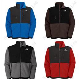 Men wool coat hood online shopping - Men The North Winter Jackets Face Coats Denali Polartec Fleece SoftShell NF Apex Bionic Jacket Windproof Warm Full Zip Overcoat C112101
