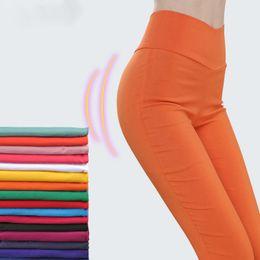 $enCountryForm.capitalKeyWord Australia - Waist High Women's Pants Woman Harajuku Leggings White Black Stretch Trousers For Women Spring Pencil Pants Female Plus Size