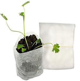 venda por atacado Planta cresce sacos 8 * 10 cm Potes de mudas biodegradável Bipergerable Burthery Bears Home Garden Fornecimento 100 pcs / set OOA7897