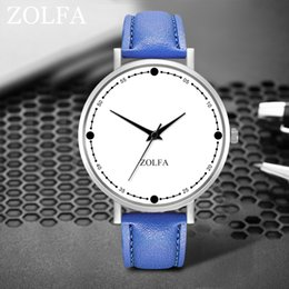 round glasses korean style Australia - Korean Style Women Watches Dot Dial Ladies Business Quartz Wristwatch Solid color Leather Strap Clock Gift Relojes Para Mujer@50
