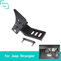 $enCountryForm.capitalKeyWord Australia - Left Foot Rest Pedal Aluminum Alloy For Jeep Wrangler JL 2018 Factory Outlet High Quatlity Auto Internal Accessories
