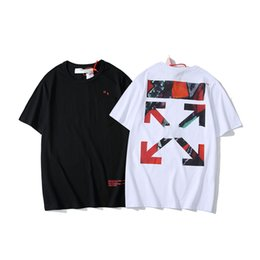 $enCountryForm.capitalKeyWord UK - Summer mens designer t shirts famous brand OFF new WHITE street hot t shirt Limited watercolor gradient graffiti striped arrow women tshirt