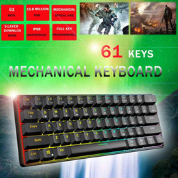 $enCountryForm.capitalKeyWord Australia - Gateron Switch RGB Game Mechanical Keyboard Optical Axis Can Be Inserted Cable Mechanical Axis 61 key games