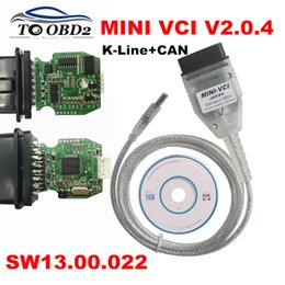 Engines For Bus Australia - Real Firmware V2.0.4 MINI VCI Newest V13.00.022 Supports K-Line CAN-BUS MINI-VCI Dual K+CAN Interface V2.0.4 J2534 TIS