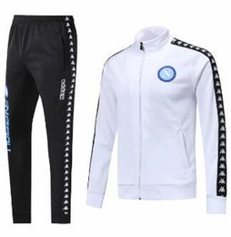 Wholesale AC Napoli Soccer jacket training suit Napoli football tracksuit MERTENS Hamsik Insigne Callejon Zielinski Naples white and black