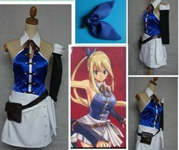 female comic cosplay Canada - NEW comics New Fairy Tail Lucy Heartfilia Cosplay Halloween Party Cos