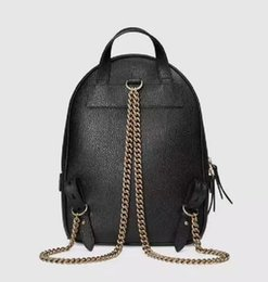 double shoulder backpack Australia - New women chain fashion casual Backpack style bag lady double shoulder handbag black with dust bag