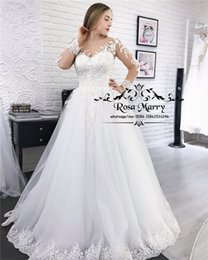 $enCountryForm.capitalKeyWord UK - Modest Plus Size Long Sleeves Wedding Dresses 2019 A Line Vintage Lace Sequined Beaded Cheap White Vestido De Novia Greek Style Bridal Gowns