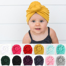 $enCountryForm.capitalKeyWord NZ - Baby Cotton Blend headband Handmade Hat girls Caps Baby Turban Hats Twist Knot Headwear Bandanas Hair Accessories