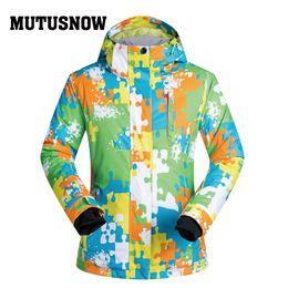 Polyester Jacket Windproof Australia - MUTUSNOW Snowboard Women Jacket Brands New Outdoor Windproof Camouflage Thermal Snow Skiing Hooded Coat Skiwear Skating Winter Ski Jackets