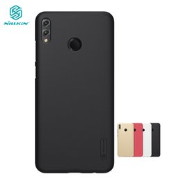 Shield Case Huawei Australia - Huawei Honor 8X Case Cover Nillkin Frosted Shield PC Hard Back Case for Huawei Honor 8X Max With Phone Holder