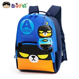 Wholesale boy cartoon images for sale – custom MELONBOY School Bags Little Boys backpack Hero bear cartoon image Glow in the dark Light weight for years children Y200706