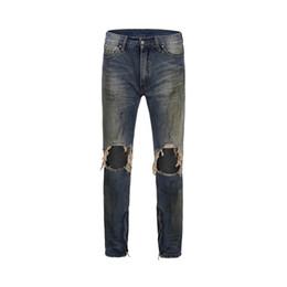 $enCountryForm.capitalKeyWord UK - New Slim Fit Men's Jeans Knee Hole Design Zipper High Street Style Men Denim Pants HipHop Jeans Streewear Male Trousers Clothing