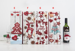 $enCountryForm.capitalKeyWord Australia - Christmas Tree Wine Bottle Packing Bag 3D Printed Portable Paper Gift Bag Xmas Party Decoration WB407