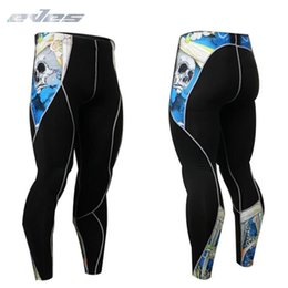 Running Stretch Tight Australia - EVES Anti Friction Compression Pants Training Gym Running Fitness Men Tights High Stretch Fashion Halloween Design Mens Leggings