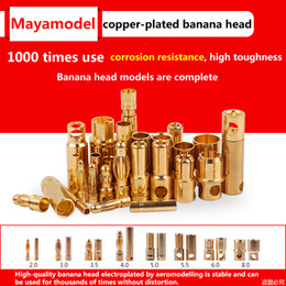 $enCountryForm.capitalKeyWord Australia - 10pcs Amass Banana Plug 2mm 3mm 3.5mm 4mm Bullet Female Male Connectors 5mm 5.5mm 6mm 8mm Gold Plated Copper RC Parts Head