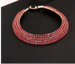 $enCountryForm.capitalKeyWord Australia - Explosive Euro-American fashion trend personality simple diamond-inlaid crystal drill Bracelet full of diamond five rows of Bracelet bride a